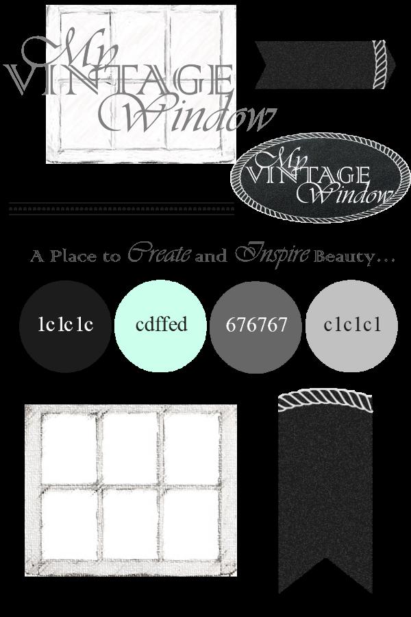 My Vintage Window Branding... Finally Branding, Vintage