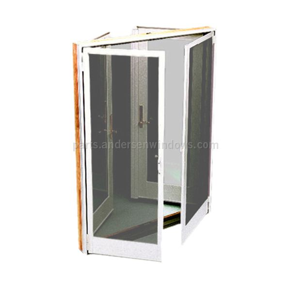 Hinged insect screen frenchwood hinged patio door 0920911 for Hinged patio doors with screens