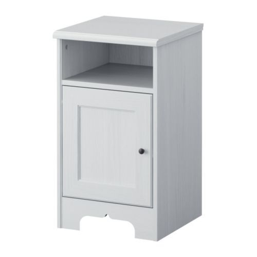 ASPELUND Bedside Table IKEA The Door Can Be Hung With The - White bedside table ikea