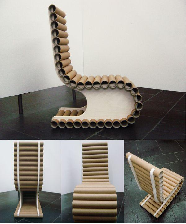 TOOB - Recicled Chair by Susana Reis, via Behance Buenas ideas - muebles de bambu modernos