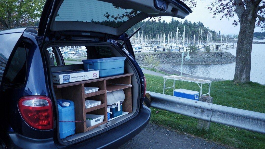 Easy Diy Minivan Camping Conversion On Pinterest 4 Vanchitecture Minivan Camping Mini Van Grand Caravan