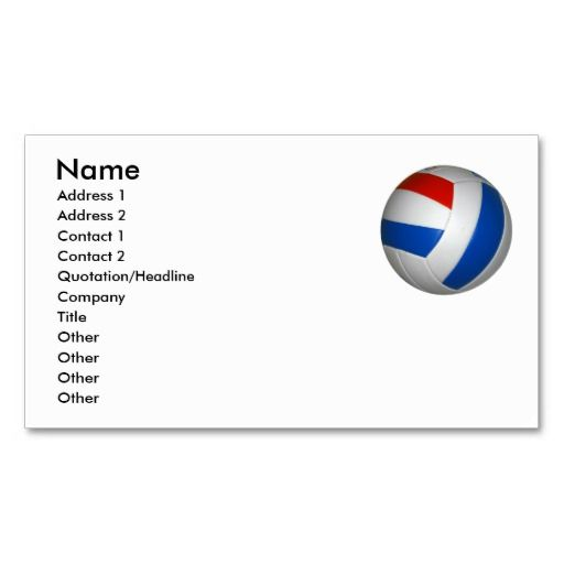 Volleyball Business Card Template