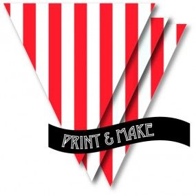 FREE for a while! Printable Red & White Stripe Bunting by Style My Party www.stylemyparty.co.uk