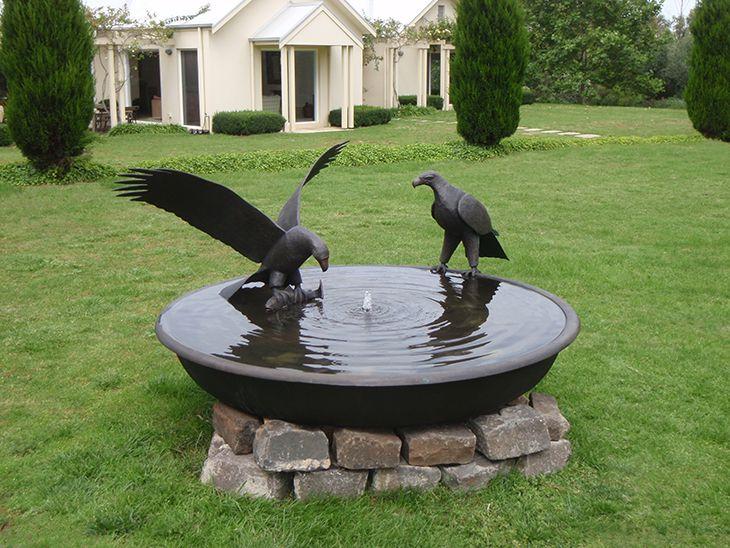Eagles Fishing Birdbath Bowl