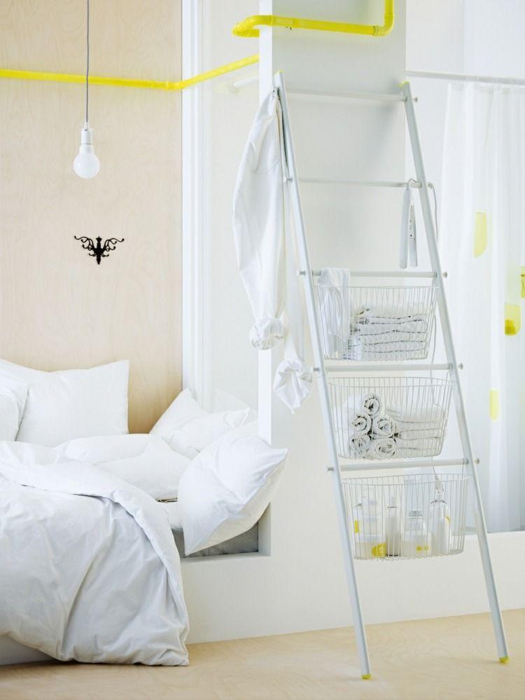 Leiter mit Stauraum für die Badutensilien | Ikea | Pinterest ...