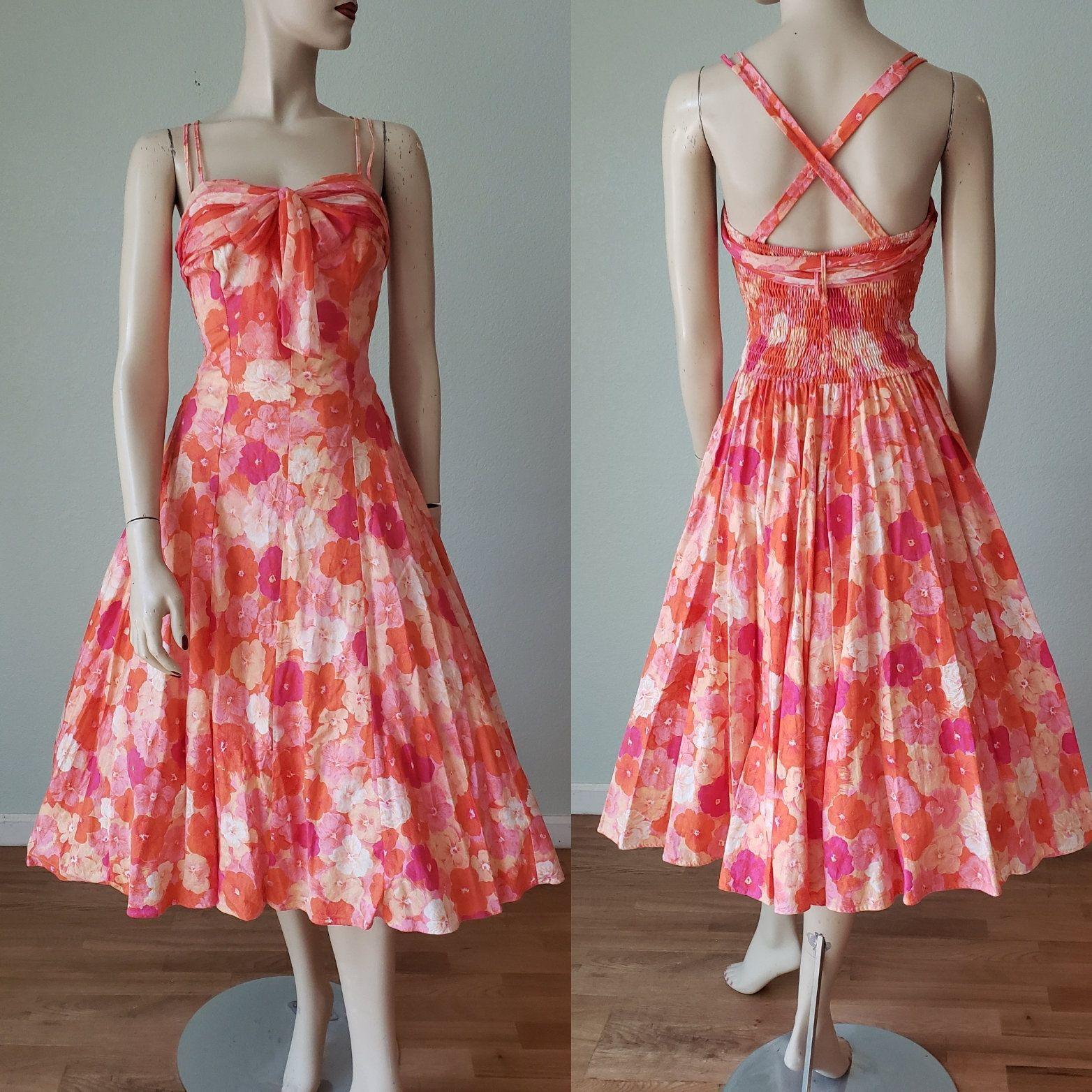 Pretty Flirty 1950s Cole Of California Cotton Sun Dress With Etsy Vintage Summer Dresses Vintage Hawaiian Dress Dresses [ 1564 x 1564 Pixel ]