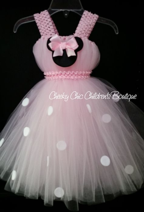 Baby pink Minnie Mouse tutu dress & Baby pink Minnie Mouse tutu dress | sevdiklerim | Pinterest | Tutu ...
