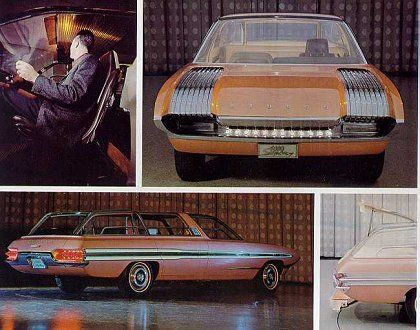 1964 ford mercury aurora concept featured a windshield that turns