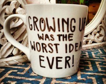 Coffee Mug Set Party On Wayne And Garth Funny Humor Wayne S World Hand Drawn Cup Mugs Coffee Mugs Mugs Set