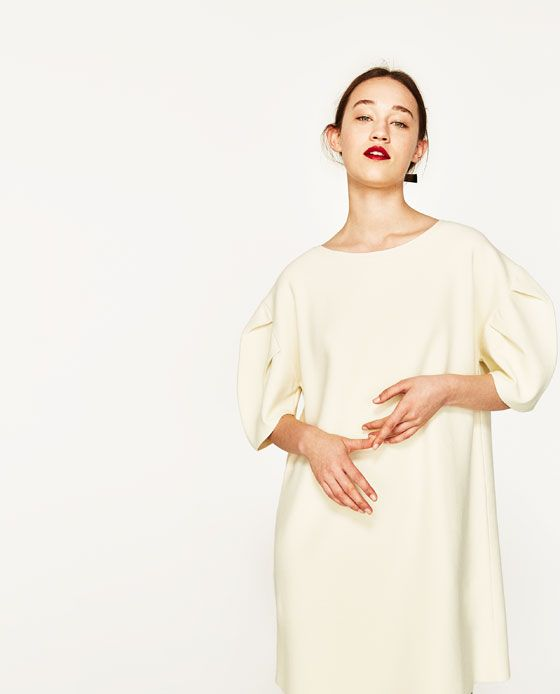 c4a60a5a Image 2 of SHORT PUFF-SLEEVED DRESS from Zara | My Style | Dresses ...