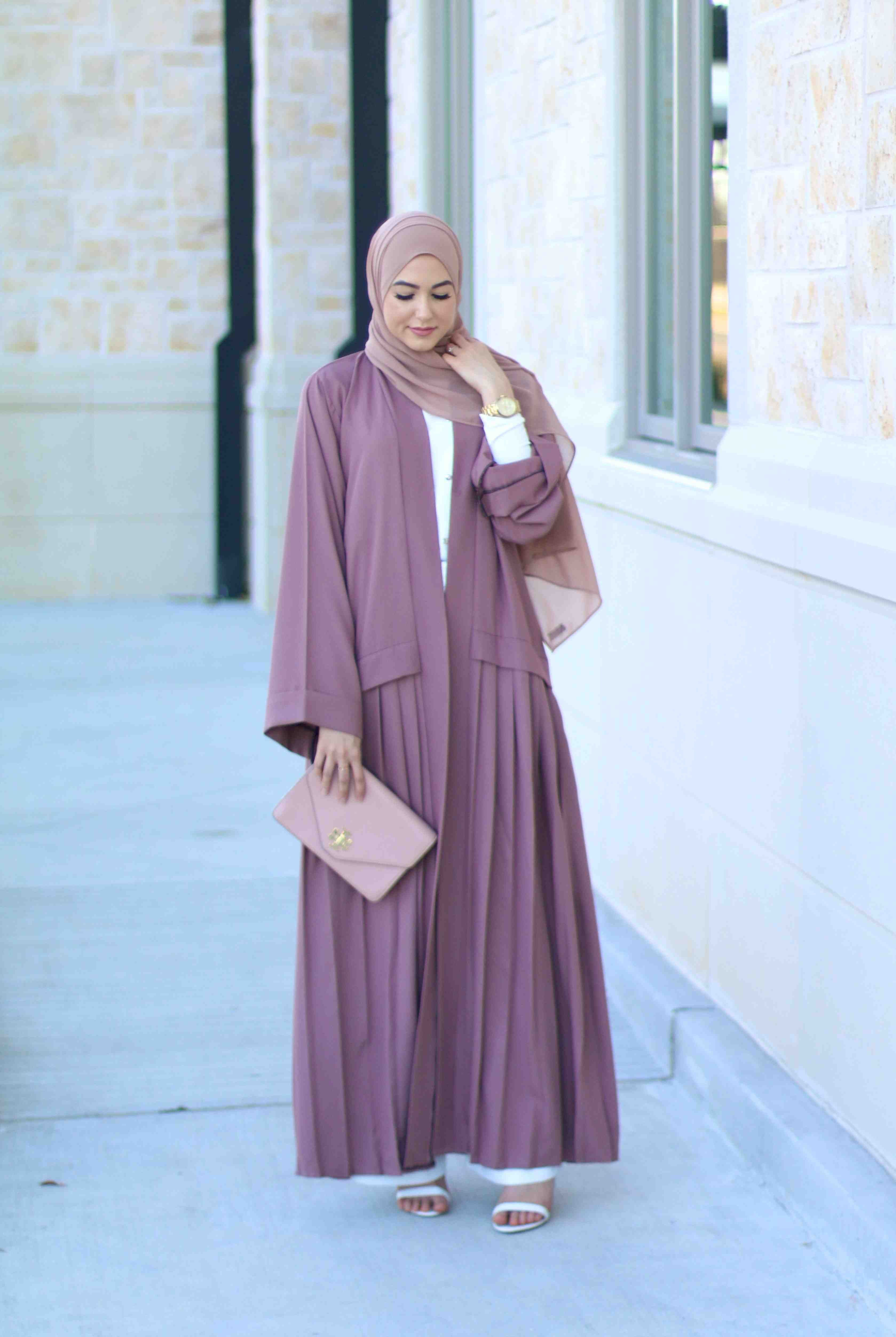 Mink pleated abaya abayas pinterest lifestyle blog lifestyle