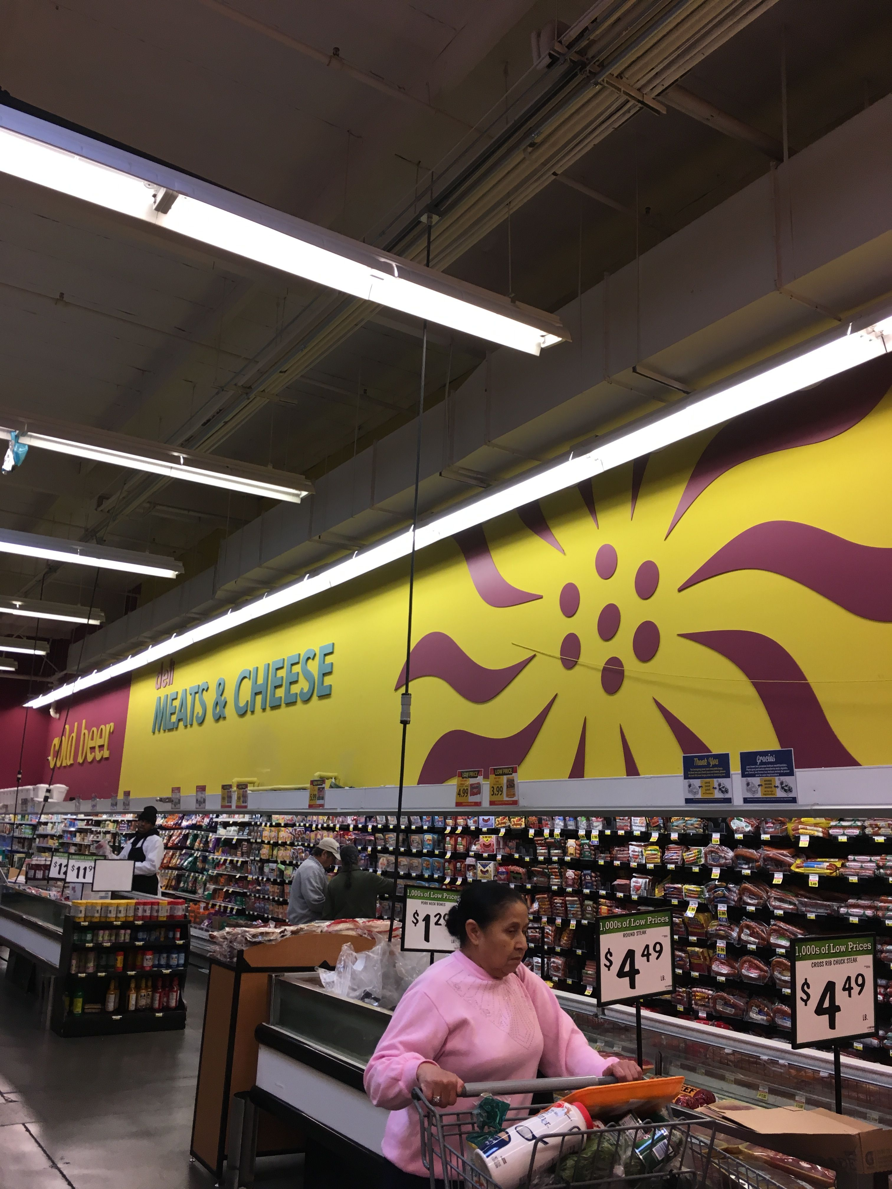 Foods Co: I really like this wall treatment - bright colors ...