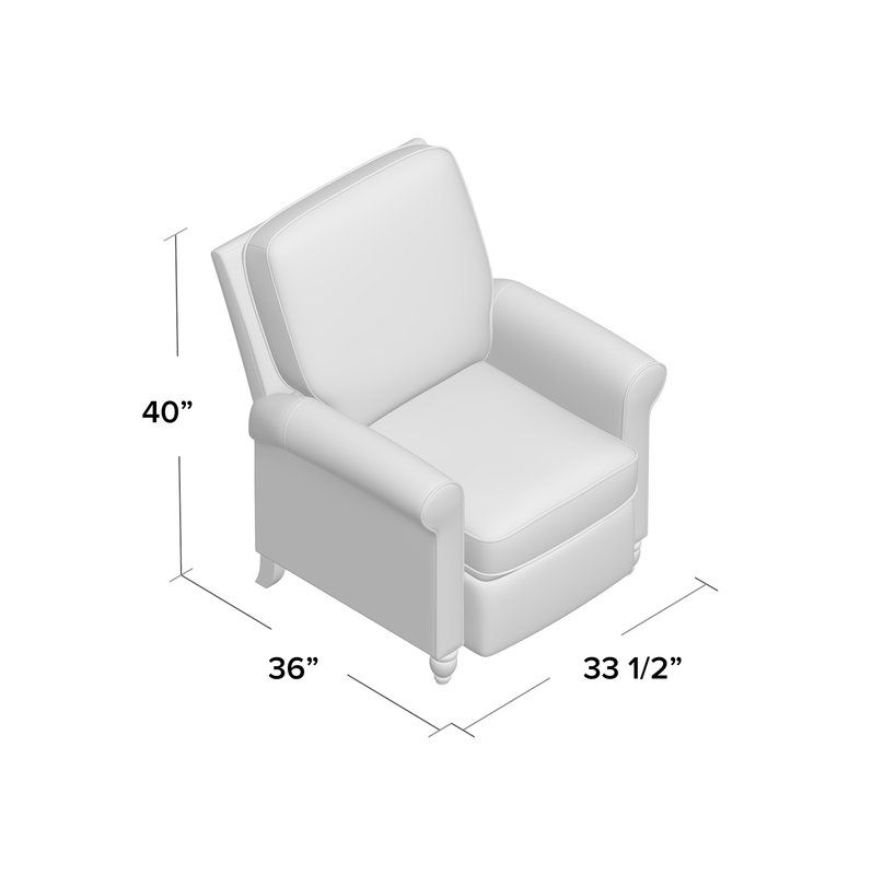 Leni Manual Recliner Recliner Striped Upholstery Grey Upholstery
