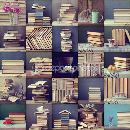 Collage From Still Lifes With Books Book Of Life Book Background Book Images