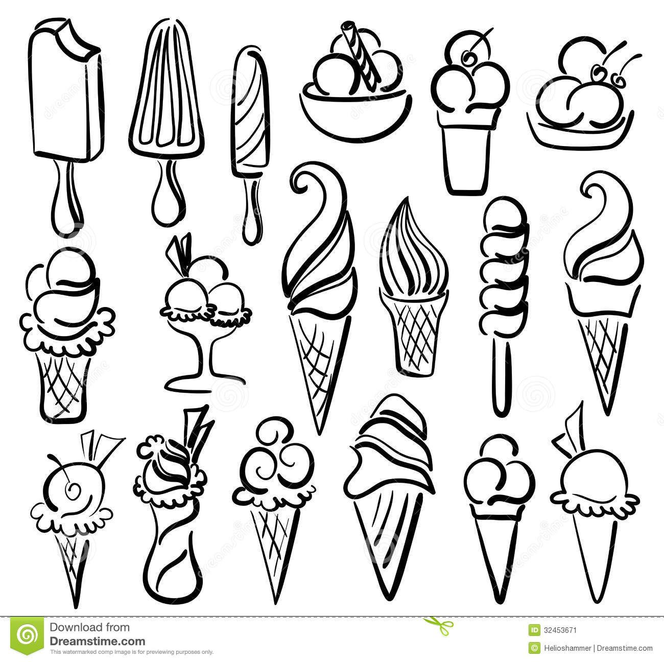 Line Art Ice Cream : Ice cream drawing google zoeken overtrekken stencils