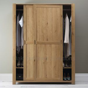 Interior: Appealing Solid Oak Wardrobe Sliding Door   Sliding Wardrobe Doors  Is Best For Saving Space