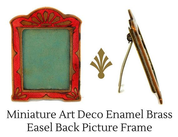 Art Deco Enamel Miniature Frame Small Picture Frame or | You\'ve Been ...