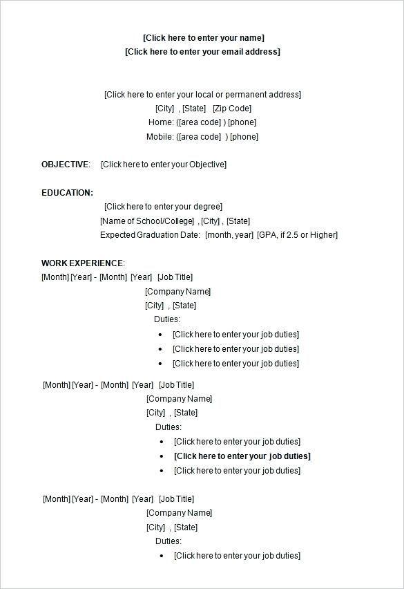 413 Free Resume Templates 3-Free Resume Templates Pinterest