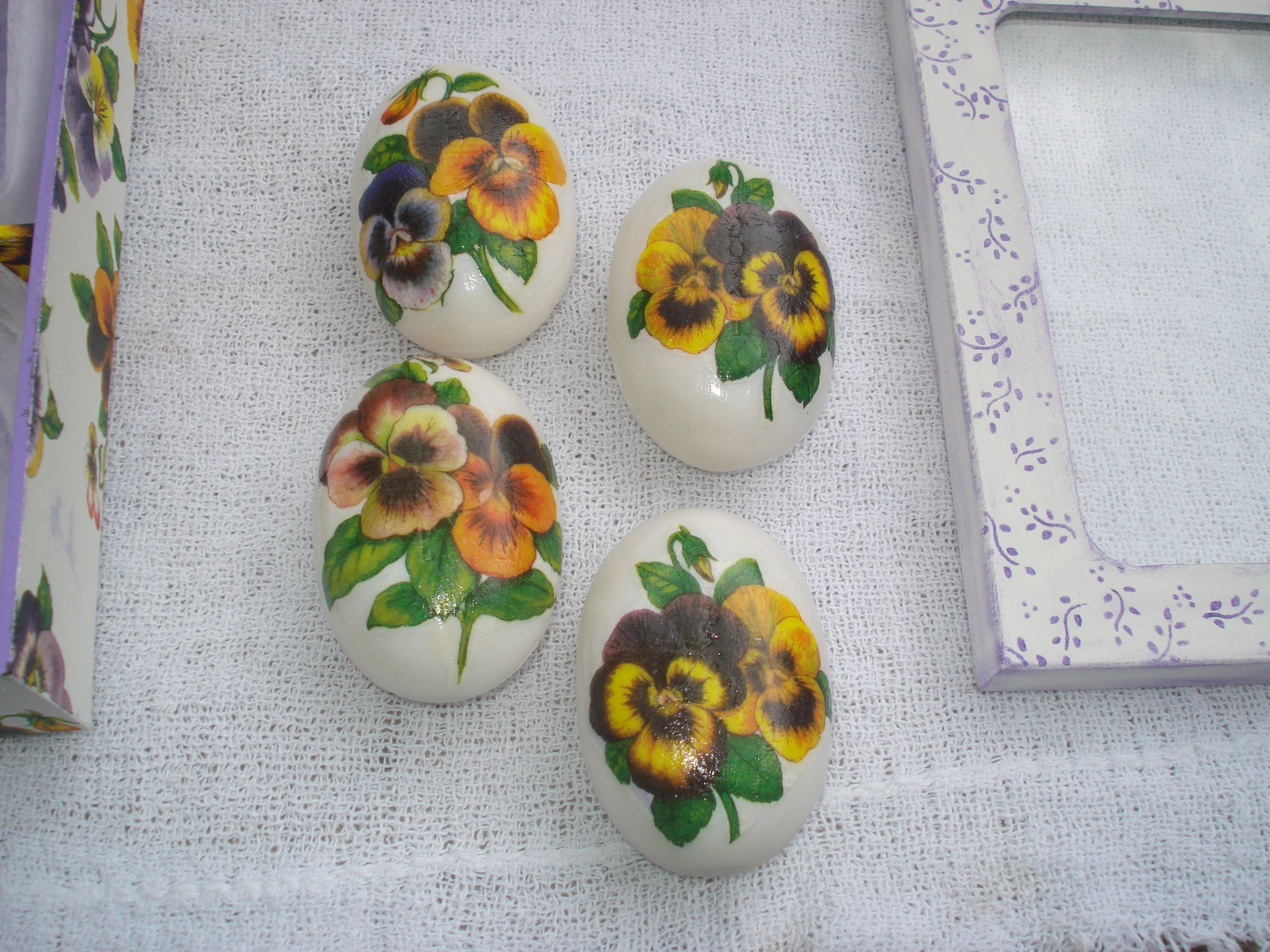 Sabonetes com guardanapo
