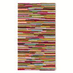 Descente de lit tuft e en laine rayures multicolores linje chambre enfants pinterest - Tapis rayures multicolores ...