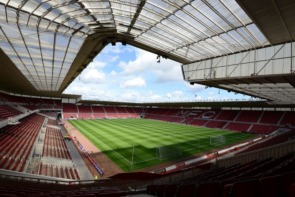 Interior Riverside Stadium, Middlesbrough, North Yorkshire, Inglaterra. Capacidad 34,988 espectadores, Equipo local Middlesbrough