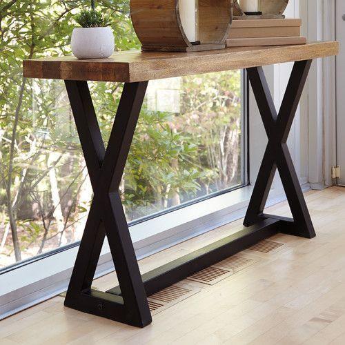 Mesa recibidos a medida estilo industrial hierro y madera for Muebles de estilo industrial barato