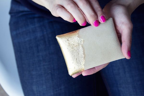 Diy suede and gold leaf business card holder business card case diy gilded leather business card case win it lovely indeed reheart Choice Image