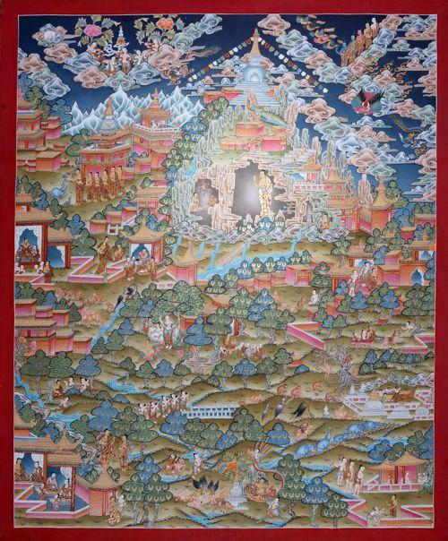 life h ein traumthangkas thangka gl11 an unsurpassable painting of buddhas