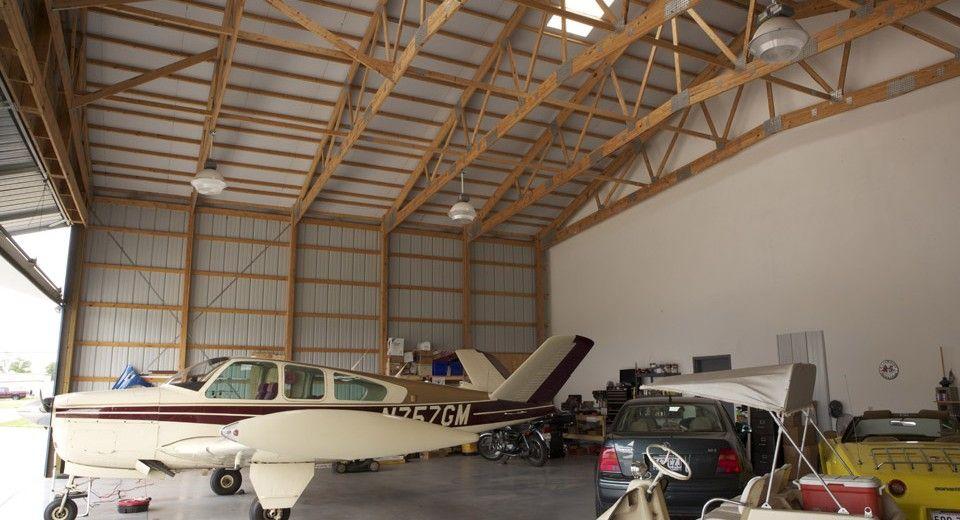 Morton Buildings Hangar with Living Quarters in McKinney