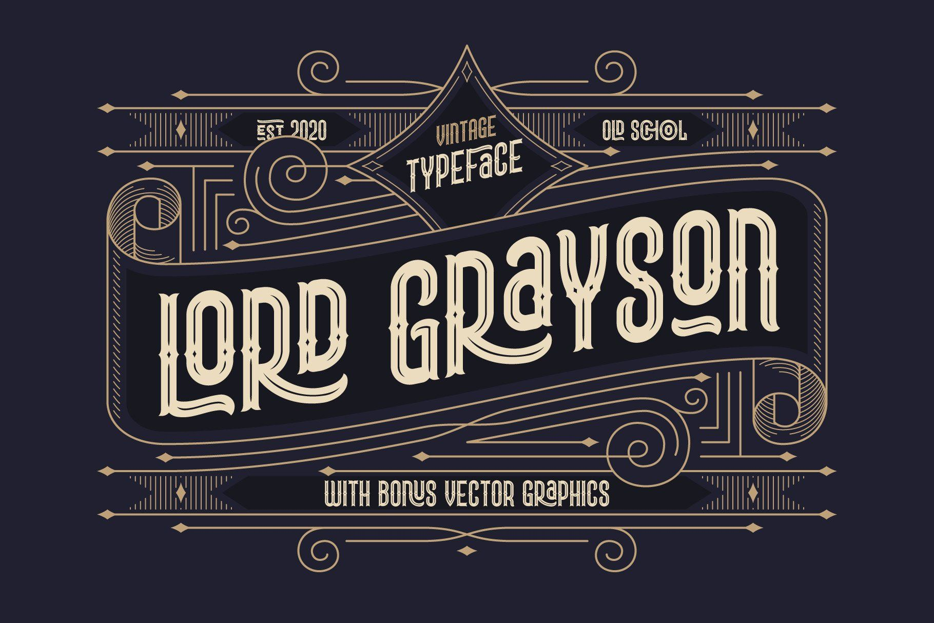 Lord Grayson Font And Template In 2020 Unique Lettering Vintage Fonts Font Packs