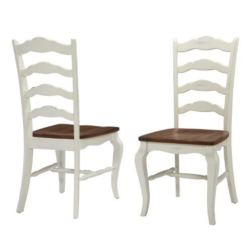 Home Styles 5518802 The French Countryside Dining Chair Pair Oak
