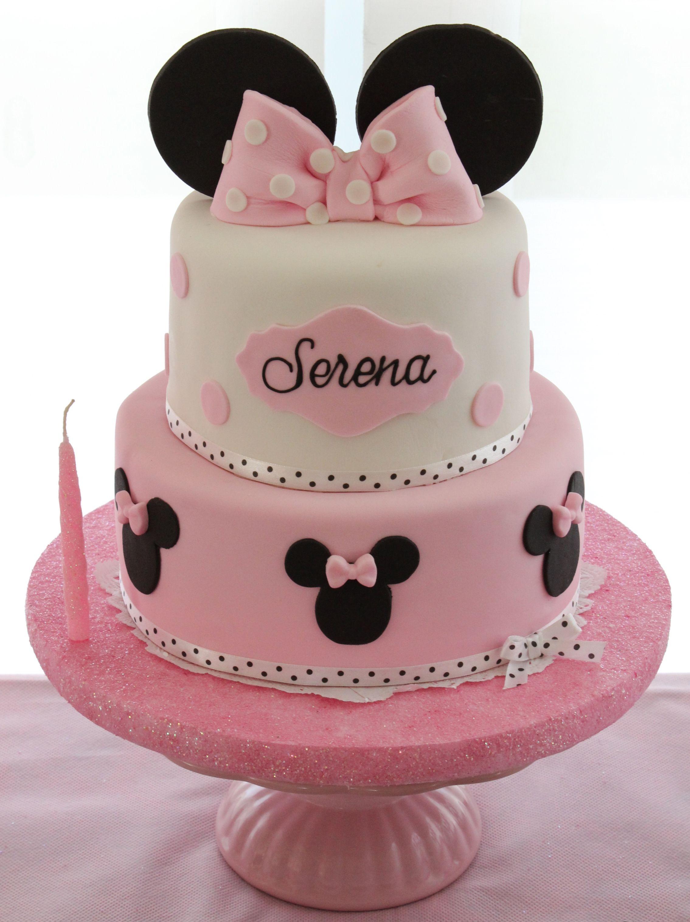 Minnie Mouse Cake by Violeta Glace | Minnie mouse birthday party, Minnie  birthday party, Birthday party cake