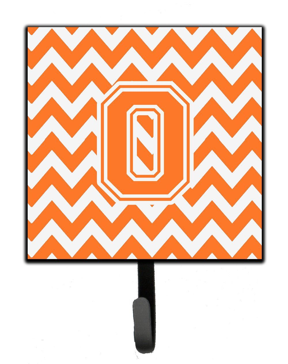 Letter o chevron orange and white leash or key holder cjosh