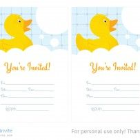 Free Rubber Duckie Birthday Invitation Template Free Birthday