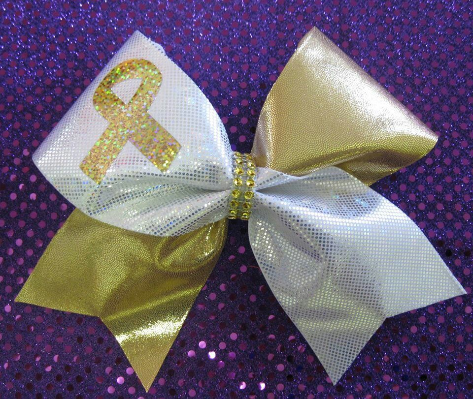 Cheerbowsnmore on etsy cheer bows childhood cancer