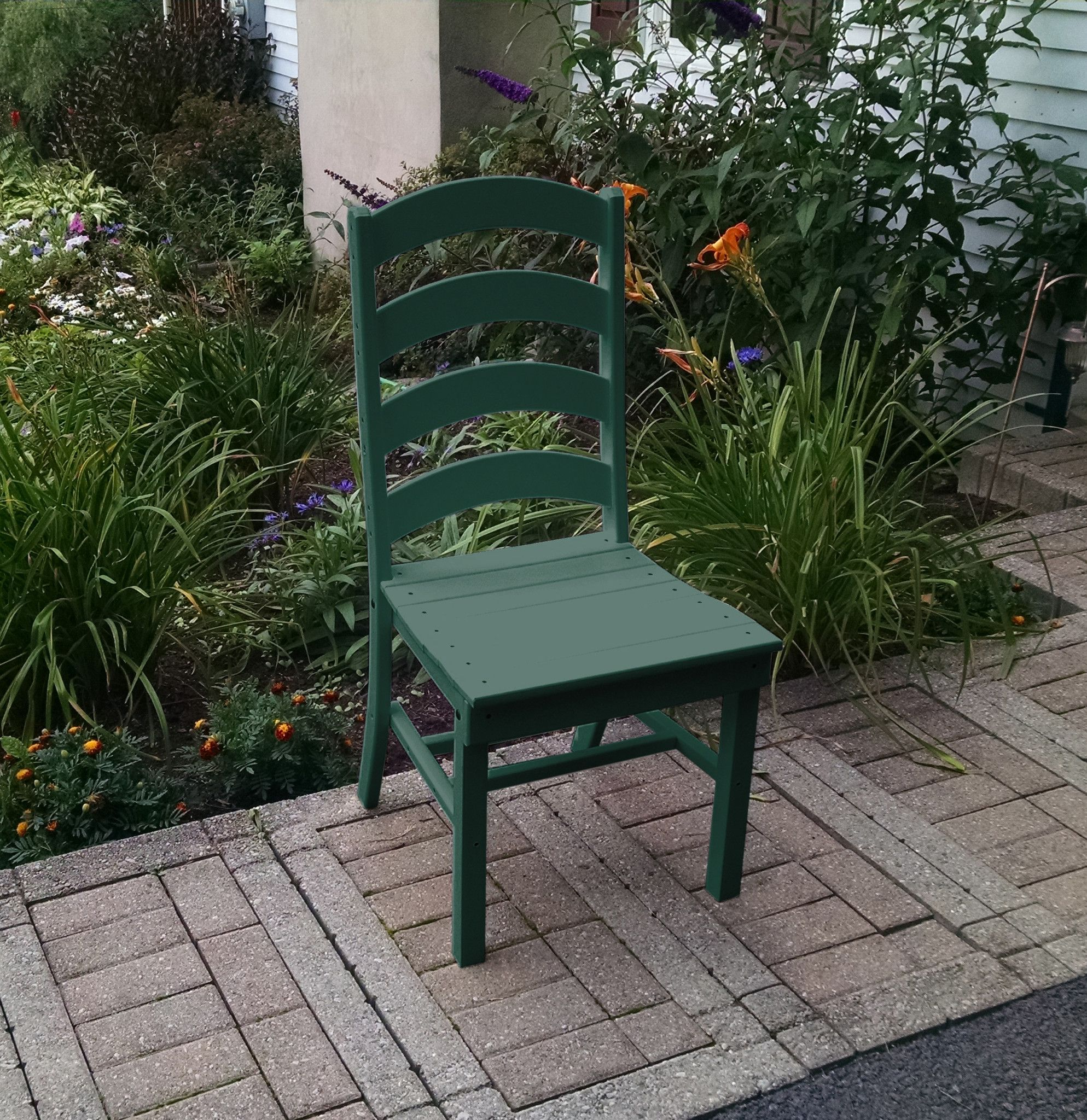 A&L Furniture Company Recycled Plastic Ladderback Dining Chair