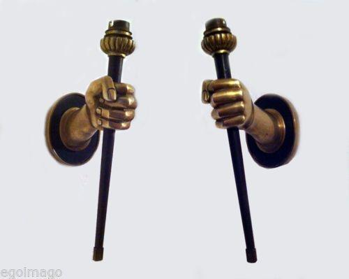 Chic paire dappliques néo classique en bronze john devoluy sublime in art sconcesbronzebest priceart decothe bestfurnitureobject