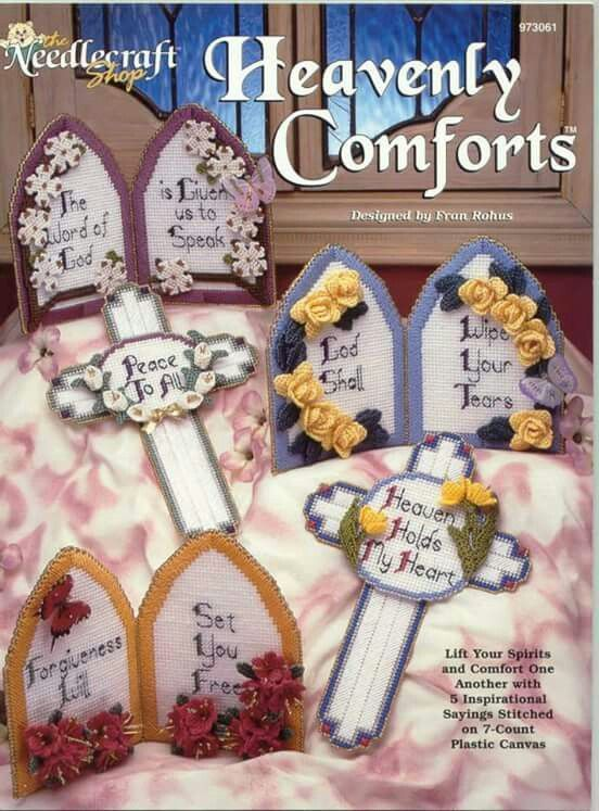 Heavenly Comforts 6060 PCReligious Patterns Pinterest Plastic Mesmerizing Plastic Canvas Pattern Books