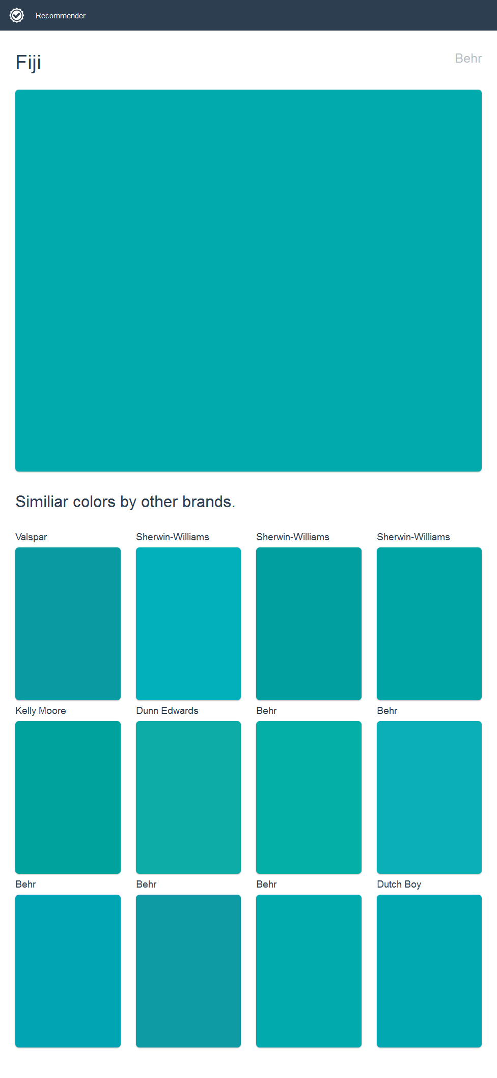 Colors Of Teal