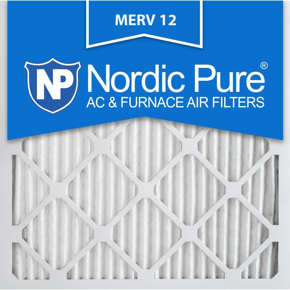 Nordic Pure 16 In X 16 In X 1 In Allergen Pleated Merv 12 Fpr 9 Air Filters 6 Pack Furnace Filters Pure Products Electrostatic Air Filter