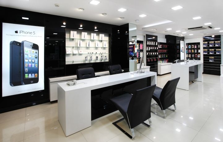 The Store Interiors Has Been Kept As Very Contemporary And