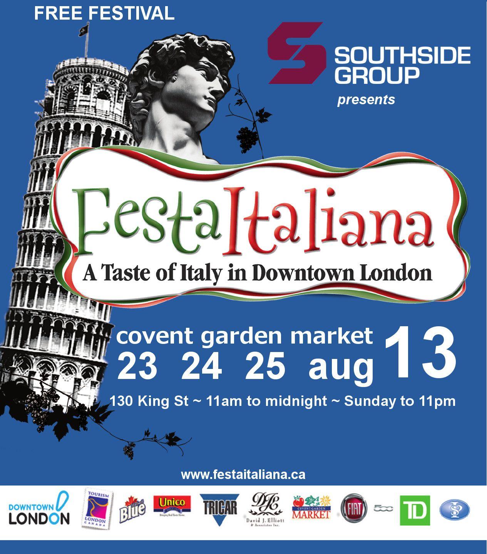 Festa Italiana in London, Ontario Covent Garden Market