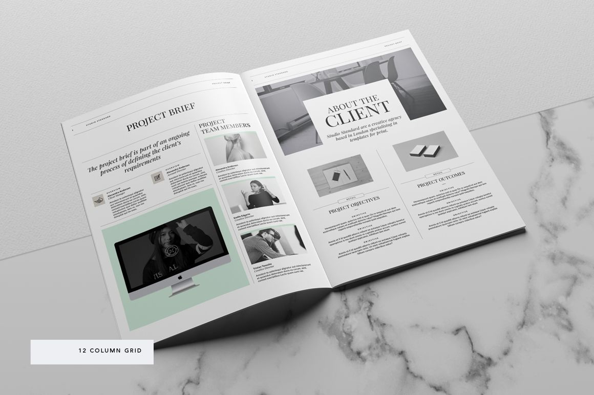 kingsley brief template | indesign brochure templates, adobe, Presentation templates