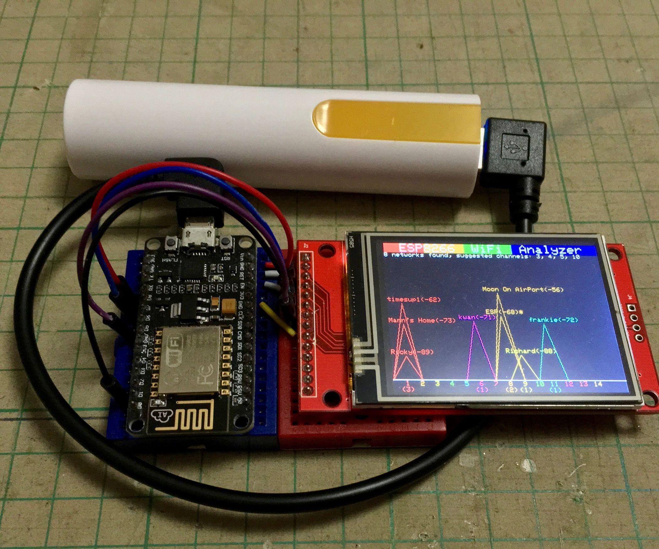 ESP8266 WiFi Analyzer | Wifi, Arduino and Computer forensics