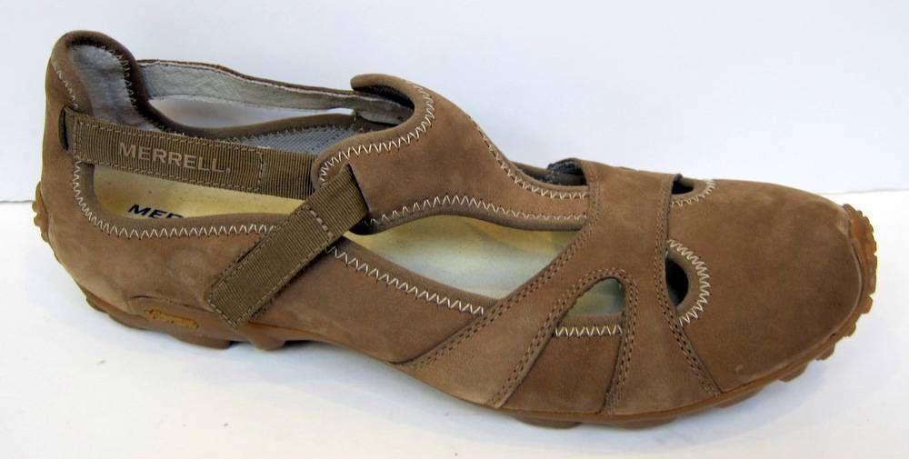 Merrell 'Abyss Kangaroo' Brown Nubuck Slip-on Size 41/US 10 #Merrell #Slipon