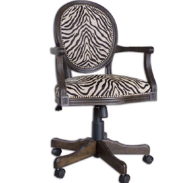 Zebra Print Office Chair