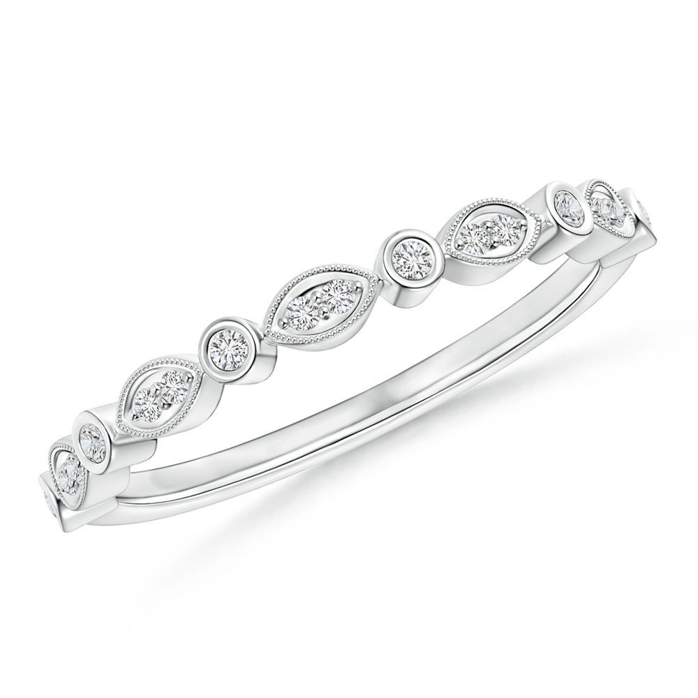 Angara Diamond Half Eternity Wedding Band in White Gold hWjQem