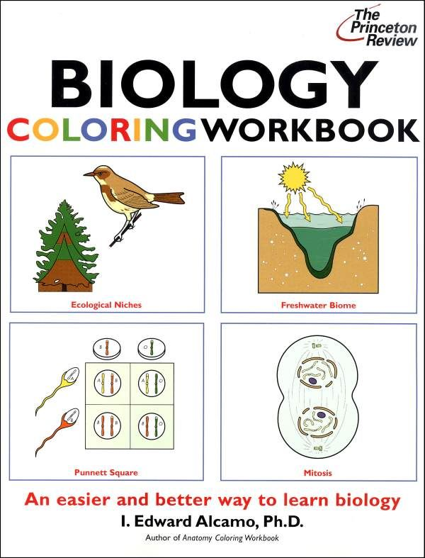 Biology Coloring Workbook (Princeton Review) | School: Ideas and ...