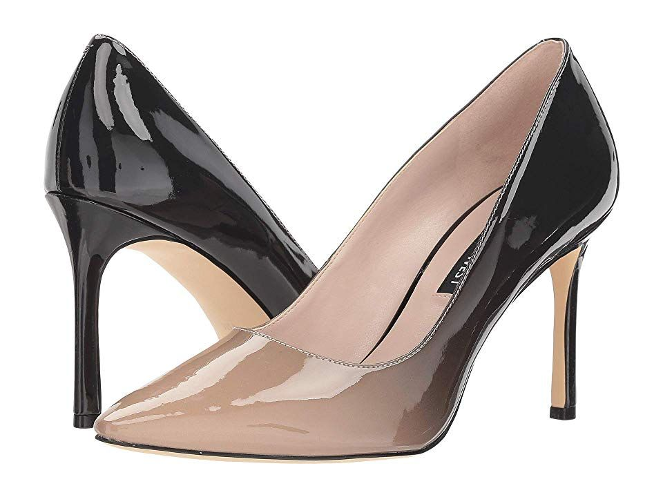37a2f5d4c8 Nine West Emmala Pump (Light Natural/Black Synthetic) Women's Shoes. Show  off your timeless look in the must-have Nine West Emmala pointed-toe pump.