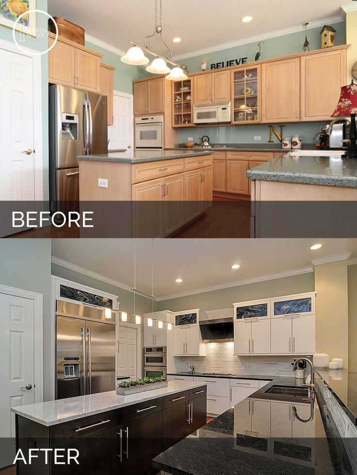 Doug natalie 39 s kitchen before after pictures for Kitchen remodel before after